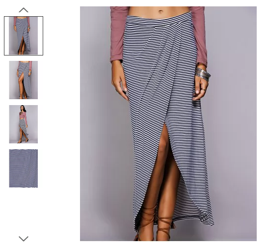 rosegal-maxi-skirt-striped